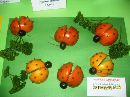 Детские поделки из помидор 155